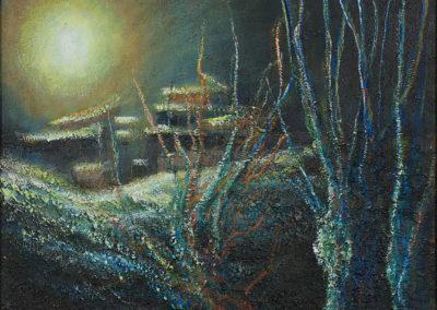 Village au crépuscule