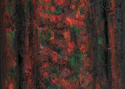 Vitrail rouge